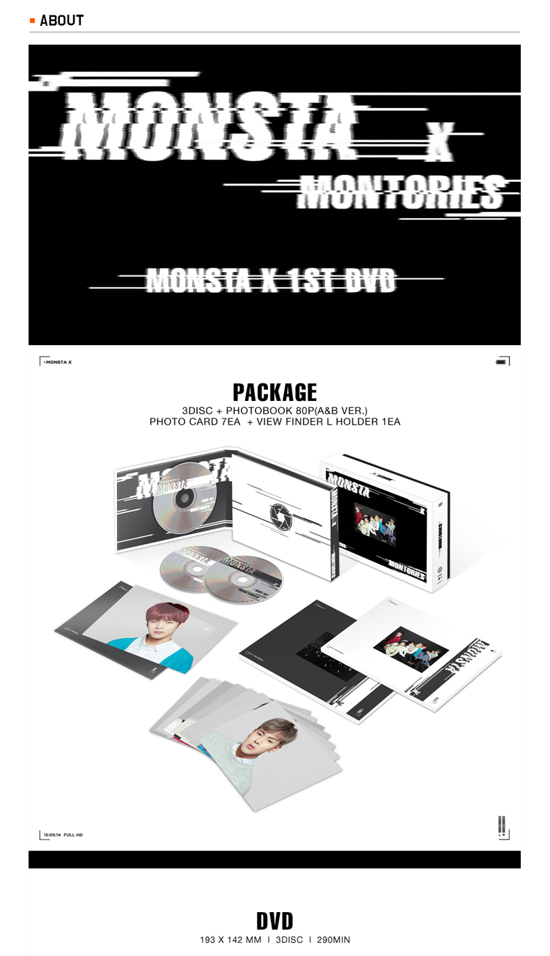 [DVD] MONSTA X - 1ST DVD [MONTORIES]
