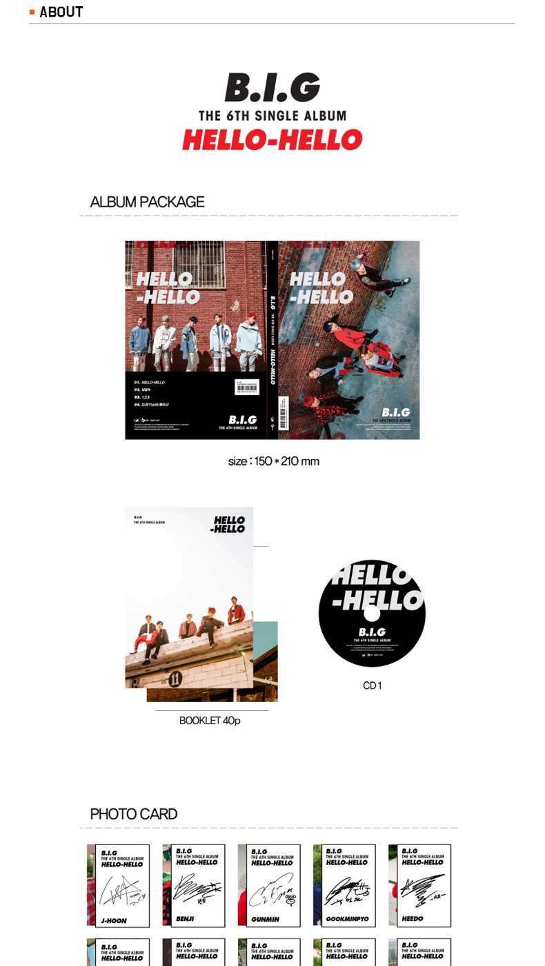 B.I.G - Single Album Vol.6 [HELLO HELLO]