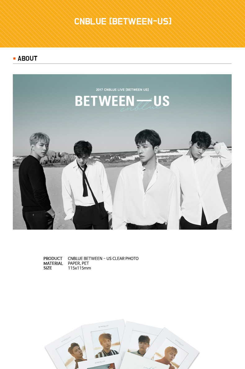 CNBLUE - CLEAR PHOTO [BETWEEN-US]