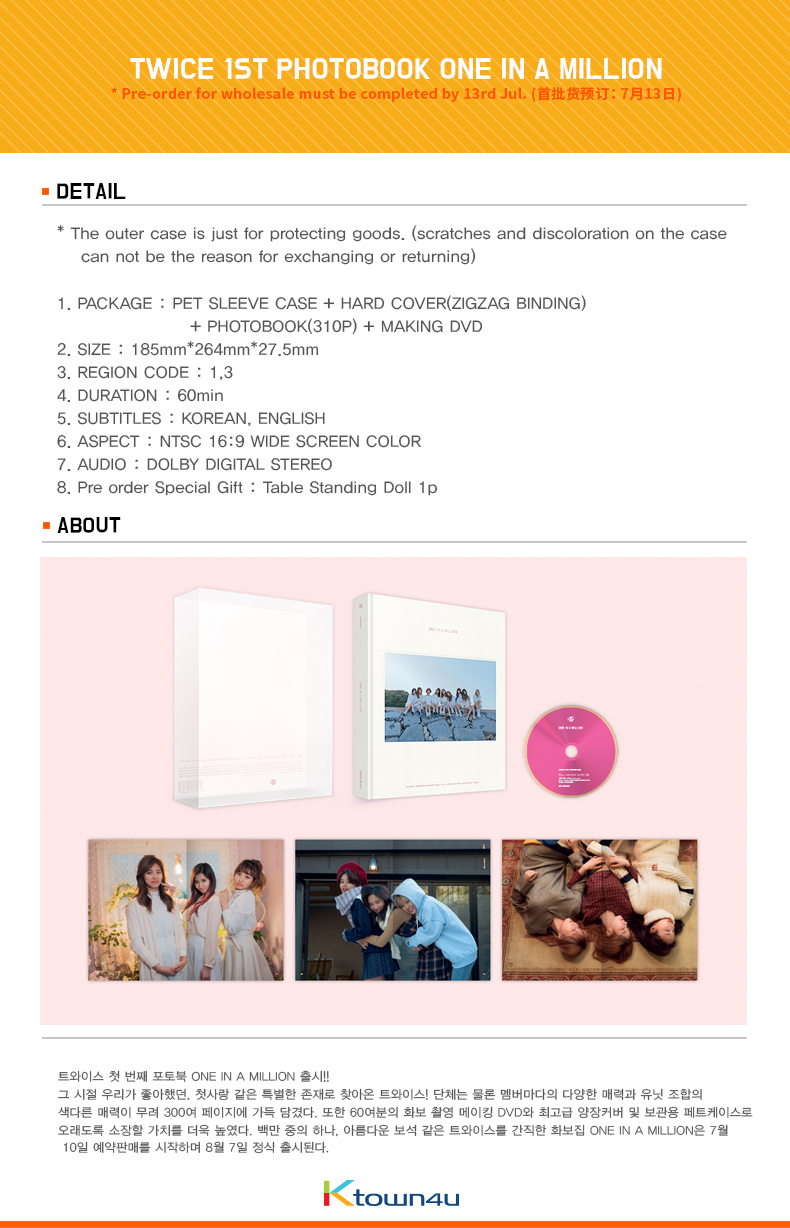 [Photobook] TWICE - TWICE 1ST PHOTOBOOK ONE IN A MILLION