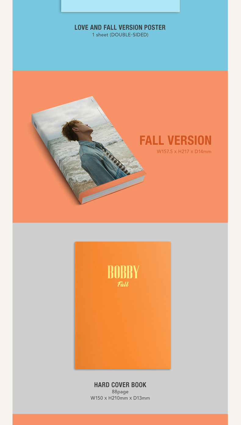 iKON : BOBBY - SOLO ALBUM VOL.1 [LOVE AND FALL] (Random Ver.)