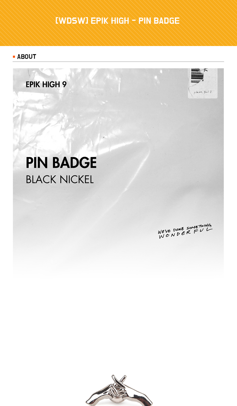 [WDSW] EPIK HIGH - PIN BADGE