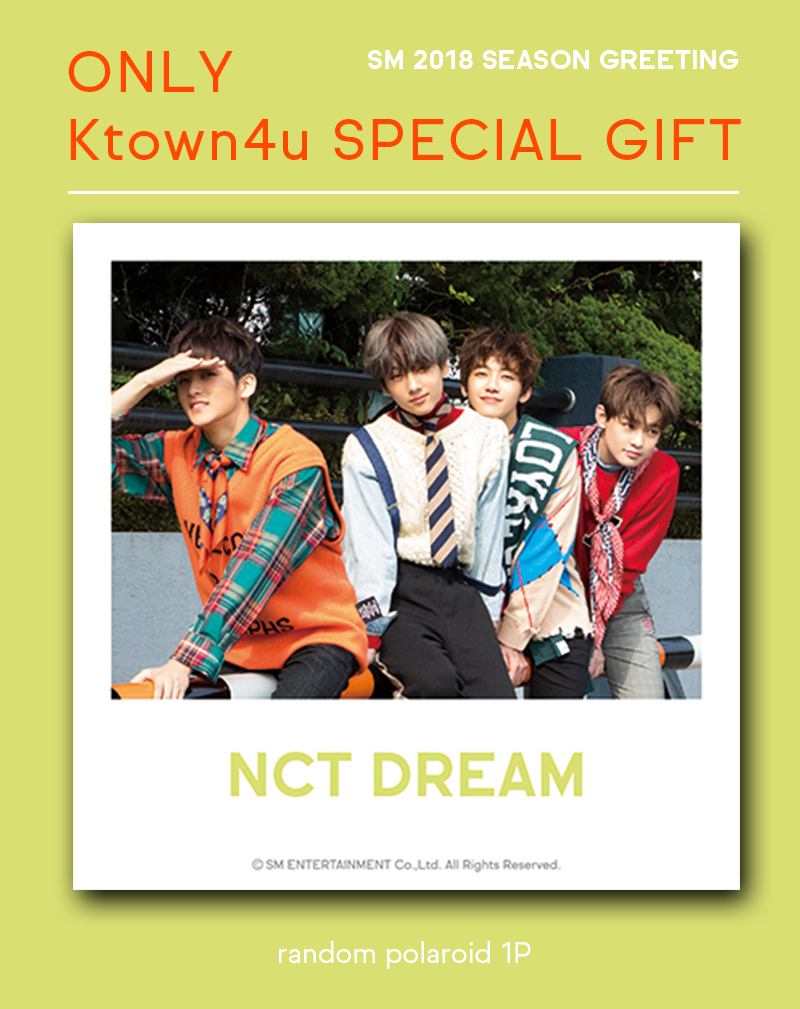NCT DREAM - 2018 SEASON GREETING (Only Ktown4u's Special Gift: Polaroid Photo 1 pc)