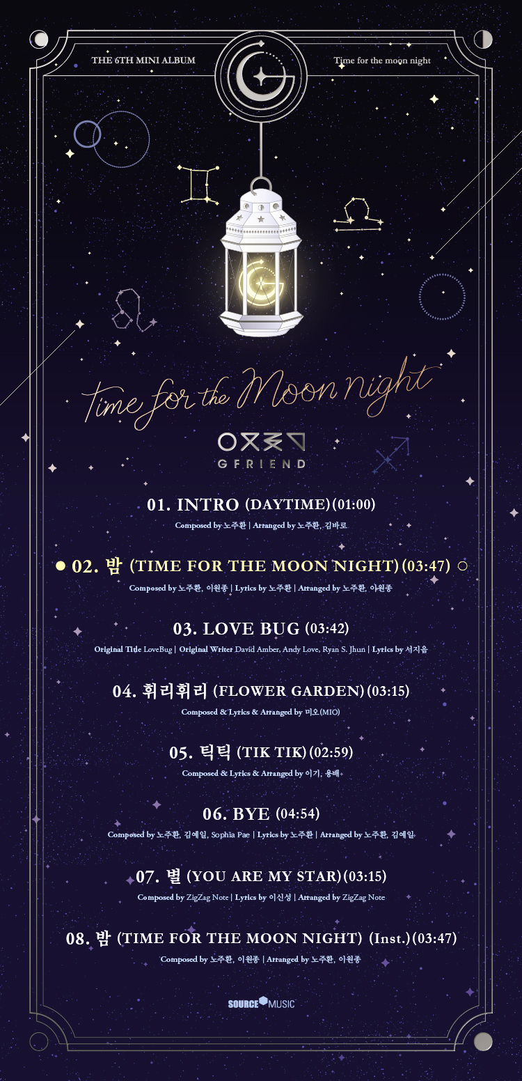 [SET][3CD + 3POSTER SET] GFRIEND - Mini Album Vol.6 [TIME FOR THE MOON NIGHT] (Time Ver.+ Moon Ver. + Night Ver.)